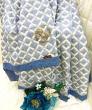 Покрывало Rоberto Cavalli - Покрывало стеганое из хлопка Размер ЕВРО Цвет синий